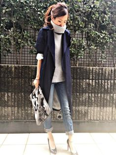 - Fall-Winter 2018 - 2019 Street Style Fashion Looks Japan Fashion, Look Fashion, Fashion Pants, Daily Fashion, Korean Fashion, Autumn Fashion, Fashion Outfits, Womens Fashion, Fashion Trends