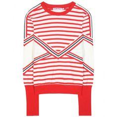 See by Chloé - Sweat-shirt à rayures en coton