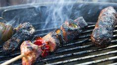 Mensen die niet kunnen barbecueën.