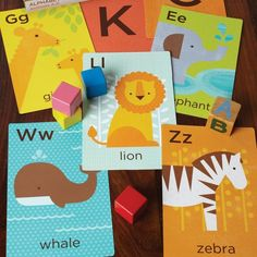 Love these Petite Collage Alphabet Flash Cards