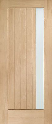 External Oak M&T Double Glazed Trieste Door with Obscure Glass