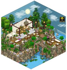 """Hi! Once again, my wonderful building friend Alpha made an amazing and stunning summer room! Check out all his rooms on www.weebz.net by searching his name """"Alpha""""! Twitter Facebook Ins..."""