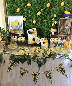 Main Squeeze Themed Birthday by Chelsey Flint Events Bridal Shower Games, Baby Shower Themes, Shower Ideas, Lemon Party, Yellow Birthday, Shower Inspiration, Shower Party, Italian Party, Italian Themed Parties