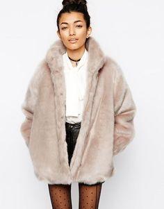 Somedays Lovin' The Giver Mauve Faux Fur Coat | Fur coat, Mauve ...