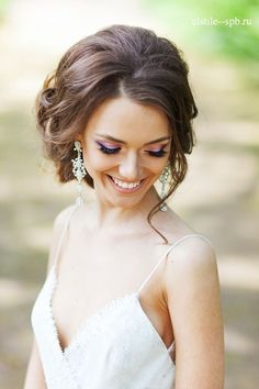 boho loose wedding updo hairstyle - Deer Pearl Flowers