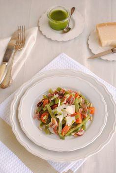 Cocinando con Neus: Judías verdes al pesto con jamón ibérico