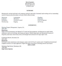 Hydraulic Mechanic Sample Resume 150 X 150 Self Employed Handyman Resume  Sample Handyman Resume .  Handyman Resume Examples
