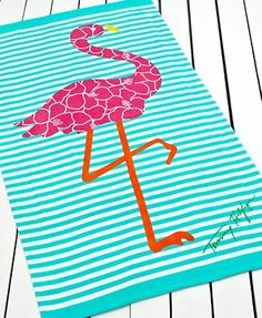 Tommy Hilfiger Flamingo Beach Towel