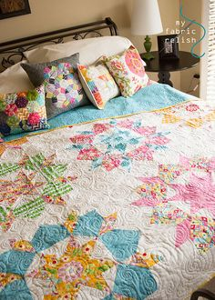 I'm about to swoon.... @ my fabric relish Love the colors and the pillows.  Inspired!