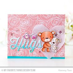 Friends Furever Stamp Set and Die-namics, Twice the Hugs Die-namics, Heart STAX Die-namics - Keeway Tsao  #mftstamps
