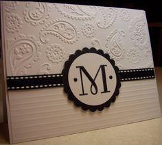 """M"" Monogram Card by Susie B - Cards and Paper Crafts at Splitcoaststampers"