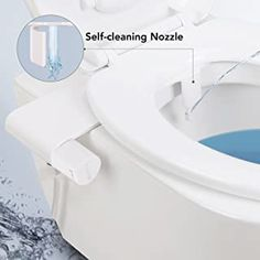 Bidet Sprayer Toilet Seat Attachment with Fresh Water for Bottom Wash and Self-Cleaning Nozzle, Non-Electric Mechanical, Simple Operation for Sanitizing Bottom by MARNUR Fresh Water, Faucet, Sink, Cleaning, Flooring, Simple, Komfort, Design, Home Decor
