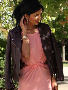Twist front dress an