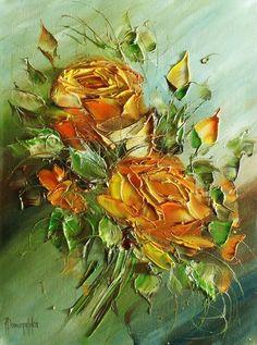 Joanna Domagalska (Джоанна Домагалска, Poland painter) - Роскошь цветочного…
