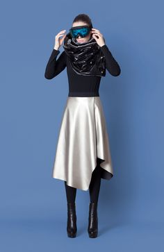 Cocoon Fall - Winter 2014-15 / Blu collection / Chimney Scarf & Silver Skirt