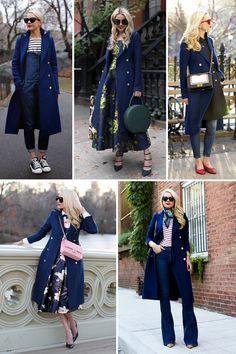 Estilo Meu - Consultoria de Imagem. Repetindo a roupa:como Blair Eaddie, do blog Atlantic Pacific, usou o mesmo casaco em 5 produções diferentes
