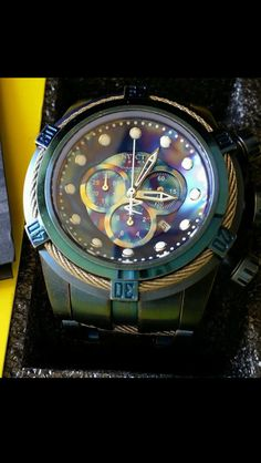 Invicta Reserve 52mm Bolt Zeus Empire Limited Edition Model: 17376 Swiss Made Chronograph Leather Strap