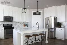 diy marble backsplash in the kitchen, flooring, kitchen backsplash, kitchen design, tiling