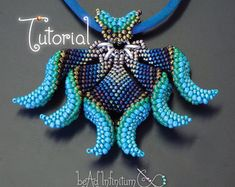 TUTORIAL Cellini Marquis Pendant Beaded with Peyote by gwenbeads