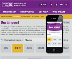 Responsive web experience tying donations directly to community impact. Approx. 10 other organizations have sought to replicate this functionality.