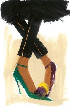 "Shoes Illustration by Donald Robertson, ""Gitte""."