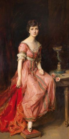 Philip Alexius de Laszlo Portrait of Sophica Jurdens-stiffened, Countess of Isnards, Oil on canvas, signed, dated 1919 and located VIII London in the bottom right. Woman Painting, Painting & Drawing, Renaissance Art, Portrait Art, Beautiful Paintings, Oeuvre D'art, Female Art, Art History, Dame