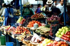 Food Market in Cuenca, Ecuador