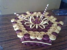 My Creativity: Paper Quilled Cake Box