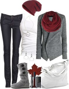 Is this the same sweater?  Looks great with the burgundy!  Also love the cute (flat) boots to match!!