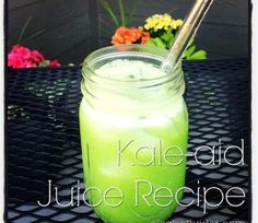 Kale-aid Is The Best Kale Juice Recipe Ever. www.elizabethrider.com #healthcoach…