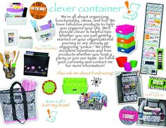 *Clever Container is the only direct sales company that is 100% organizing items! http://www.mycleverbiz.com/BethToney