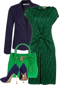 """Green (with blue)"" by inskydiamonds ❤ liked on Polyvore"