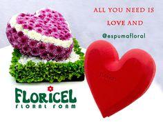 #SoyTanRomanticoQue este #14defebrero puedo regalar <3 de #EspumaFloral FLORICEL, los +lindos, hasta sin flores!