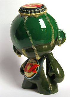 UNTITLED no. 1 ORIGINAL ART Dos Equis Inspired Beer Munny 7in Urban Vinyl Toy