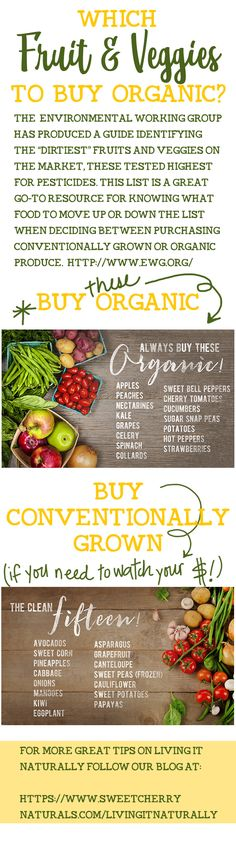 Decide which fruits and vegetable to buy organic and which ones to save money on and buy conventionally grown. Healthy Mind, Healthy Eating, Fruit Veggie Wash, Whole Food Recipes, Healthy Recipes, Fruit Benefits, Organic Fruits And Vegetables, Dairy Free Diet, Diabetic Living