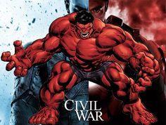 """There is a rumor going around that the Red Hulk will be appearing in """"Captain America: Civil War. The Red Hulk is the alter ego of General Thunderbolt Ross. Comic Book Characters, Marvel Characters, Comic Books Art, Comic Art, Dc Comics Superheroes, Marvel Dc Comics, Red Hulk Marvel, World War Hulk, Civil War Movies"""