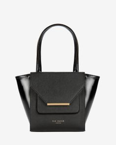 Ted Baker| Small patent crosshatch shopper
