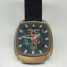 We love when our customers bring in interesting stuff. We had the pleasure of putting a new strap on this @bulova Accutron recently.  #watches #bulova #accutron #vintage