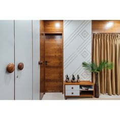 The Essence of Interior Design will always be how the Objects and Wall Palette in it, Communicate with one another, Respond and Balance one… Bedroom Bed Design, Modern Bedroom Design, Master Bedroom, Bedroom Interiors, Bedroom Wardrobe, Wardrobe Doors, House Interiors, Bedroom Decor, Wall Decor