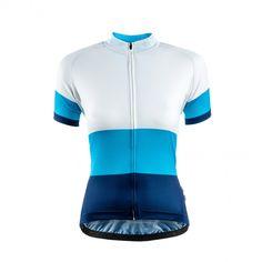 Chapeau Soulor Jersey Block Blue | Cyclechic. Truly stylish ladies cycling jersey