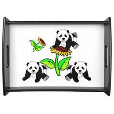 Panda Baby and Sunflower Trays