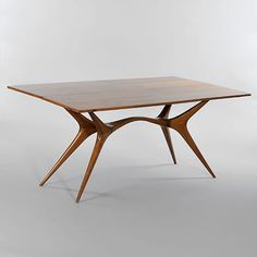 Giuseppe Scapinelli; Caviuna Rosewood Console/Dining Table, 1950s.