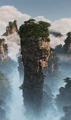 ArtStation - Huangshan UE4, Simon Barle