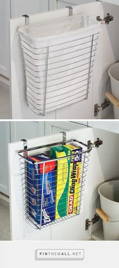 29 sneaky diy small space storage and organization ideas on a budget diy storage ideas for Small Space Storage, Small Space Organization, Kitchen Organization, Organization Hacks, Storage Spaces, Extra Storage, Storage Baskets, Organizing Ideas, Organize Small Spaces