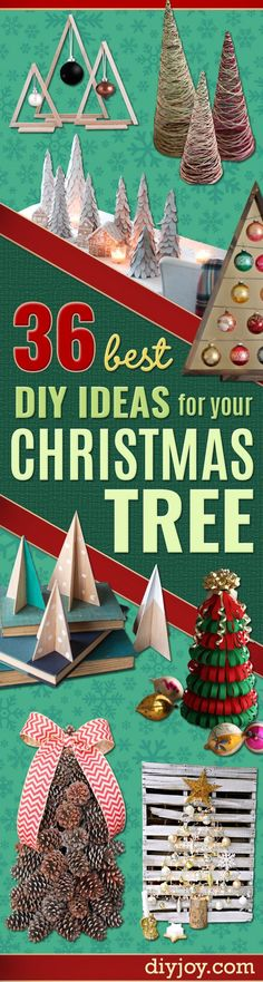 Cheap Christmas Decor Ideas - Best DIY Ideas for Your Christmas Tree - Cool Handmade Ornaments, DIY Decorating Ideas and Ornament Tutorials - Creative Ways To Decorate Trees on A Budget - Cheap Christmas Home Decor - Xmas Crafts Christmas Tree Crafts, Holiday Crafts For Kids, Cheap Christmas, Christmas Projects, Christmas Decorations, Christmas Ornaments, Christmas Ideas, Cheap Holiday, Christmas Canvas