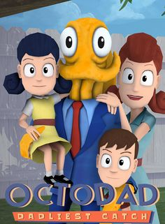 Octodad: Dadliest Catch is a game about destruction, deception, and fatherhood. The player controls Octodad, a dapper octopus masquerading as a human, as he goes about his life. Ps4 Games For Kids, Games For Toddlers, All Games, Free Games, Amazon Top, Xbox 1, Free Download, Shopping, Videogames