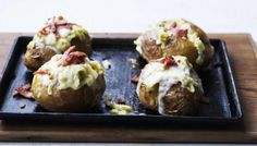 James Martin: Baked Potato with Taleggio cheese and omit the bacon!