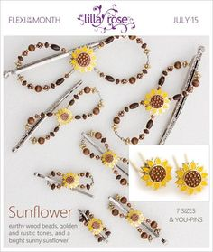 DIY Hair Tips for summer! Sunflower Flexi of the month clip