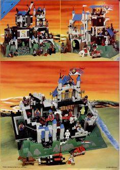Lego Castle Instructions, Old Lego Sets, Classic Lego, Lego System, Lego Room, Balcony Design, Legos, Knight, Brick