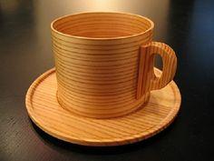 Japanese Akita cedar wooden cup.